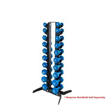 NL 10 Pair Vertical Neoprene Dumbbell Rack