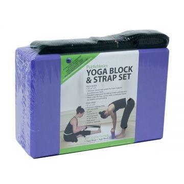 Zen Athletics Yoga Block& Strap Lavender