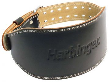 """Harbinger 6"""" Padded Leather Belt Medium"""