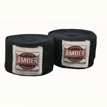 Amber Stretch Handwraps Black Pr.