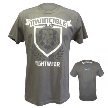 Amber Invincible Mens Tee Grey LG
