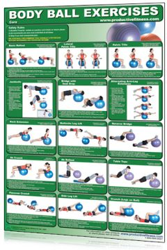 Poster Ball Exercises Upper/Lower Body