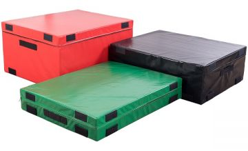 NL Plyo Box, Set of 3,Hard Foam,6,12 & 18'