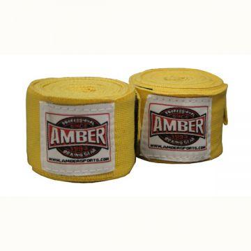 Amber Stretch Handwraps Yellow Pr.