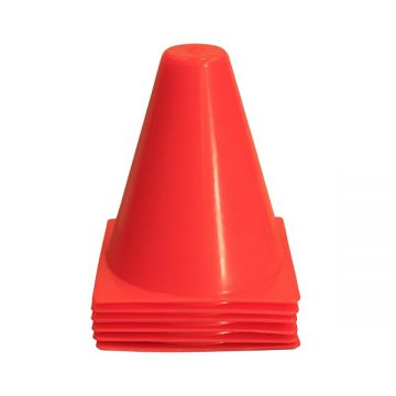 """Amber Agility Cone 9"""" (set of 6)"""