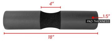 NL Barbell Pad, Black Foam Roller