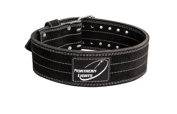 NL Power Lift Belt,Suede,2Prong,Black, Large