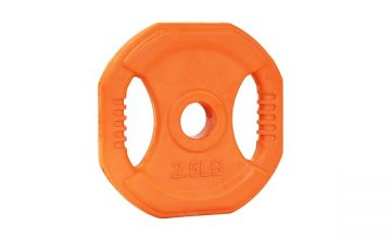 NL Cardio Pump Rubber Plate,2.5lb, Orange