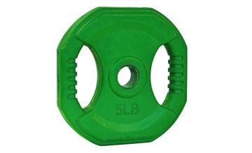 NL Cardio Pump Rubber Plate, 5lb, Green