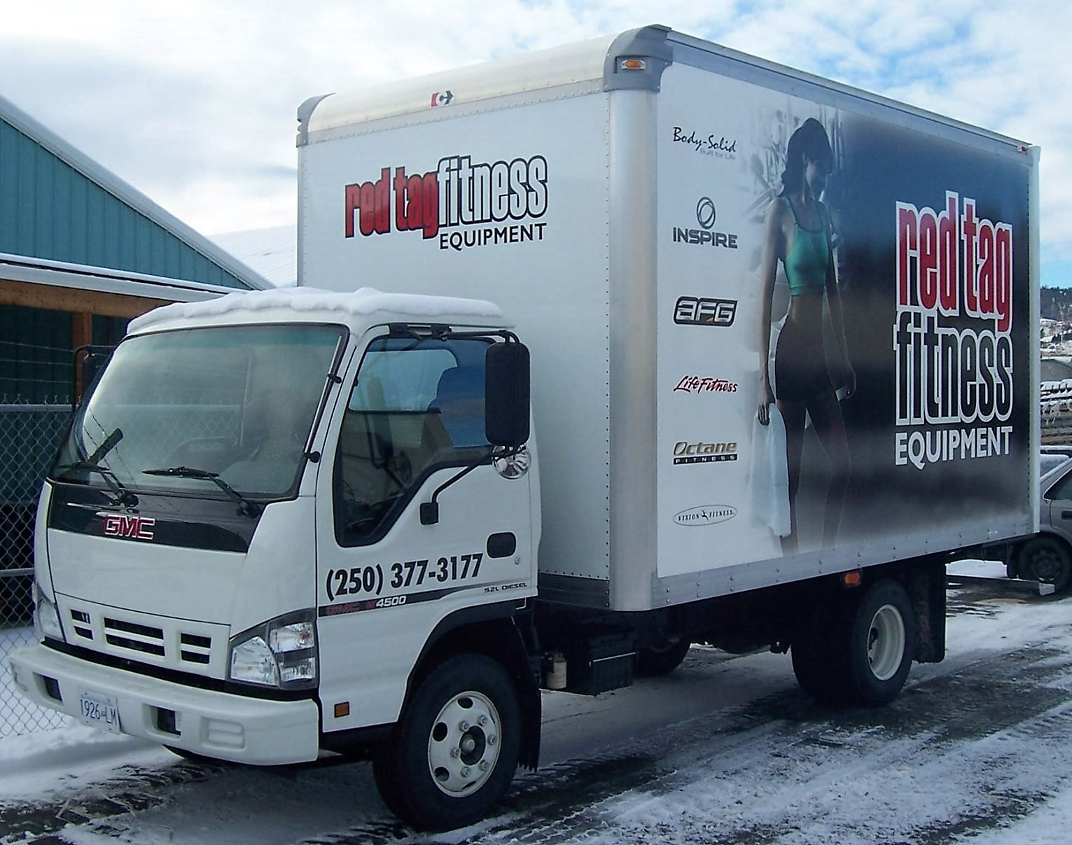 Red Tag Fitness Delivery Truck
